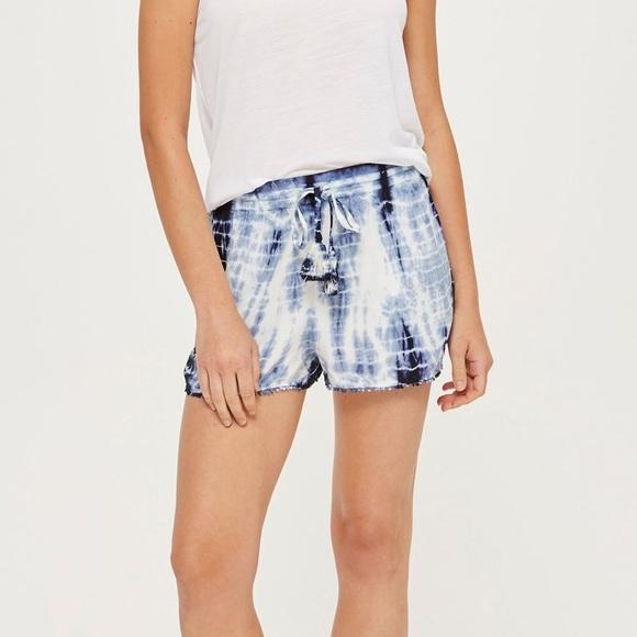 Topshop Pants - Topshop tie dye trim shorts